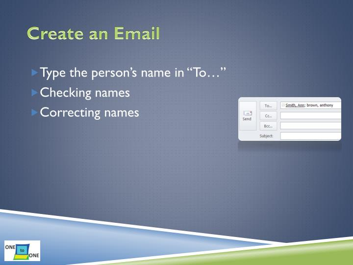 Create an Email