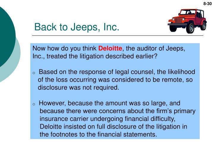 Back to Jeeps, Inc.