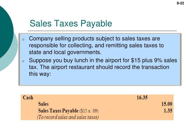 Sales Taxes Payable