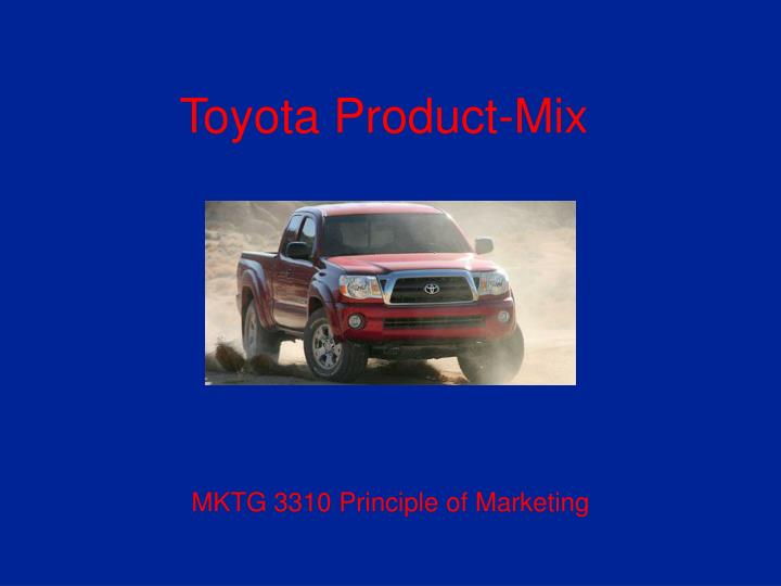 Toyota product mix