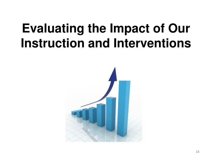 Evaluating the Impact of Our Instruction and Interventions