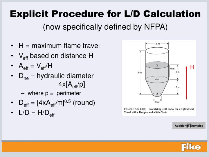 Explicit Procedure for L/D Calculation