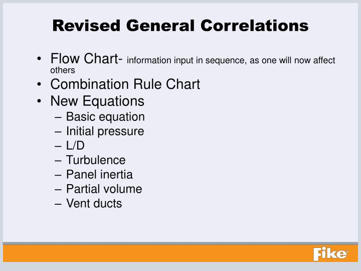 Revised General Correlations