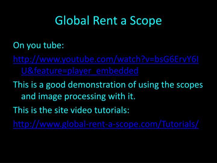 Global Rent a Scope