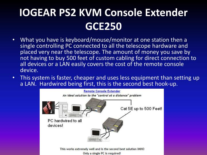 IOGEAR PS2 KVM Console Extender GCE250