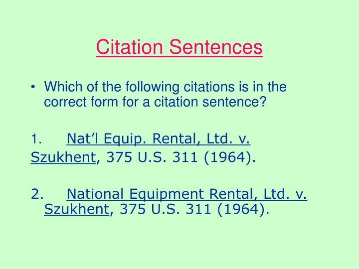 Citation Sentences