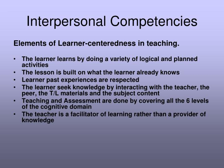 Interpersonal Competencies