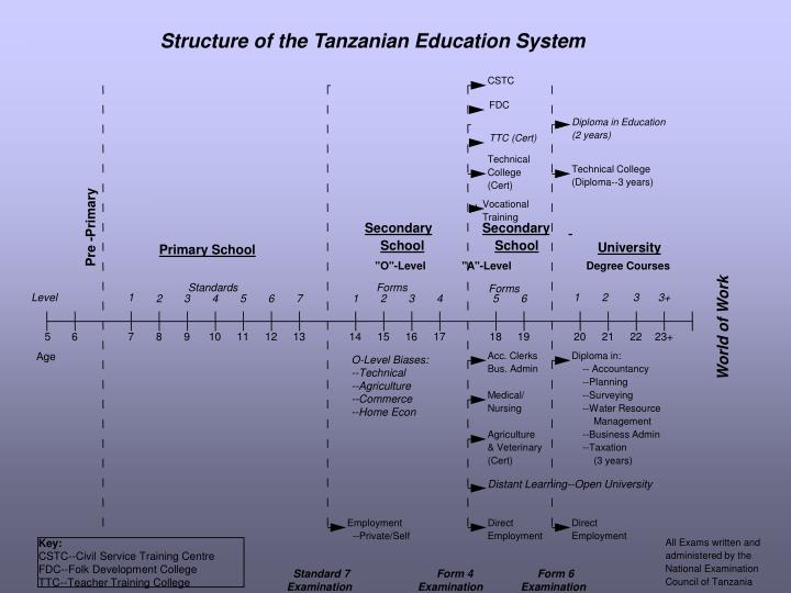 Structure of the Tanzanian Education System
