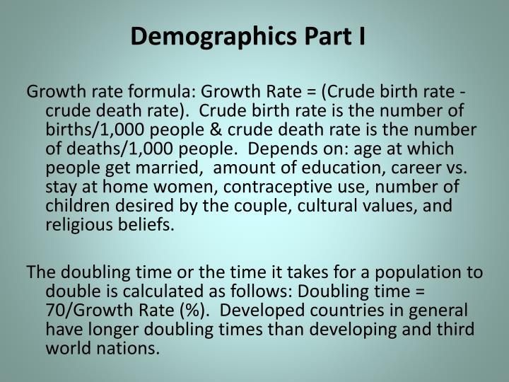Demographics Part I