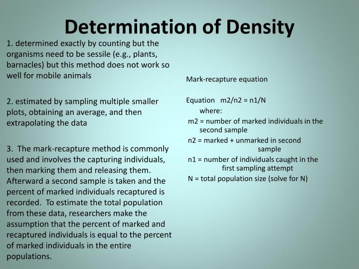 Determination of Density