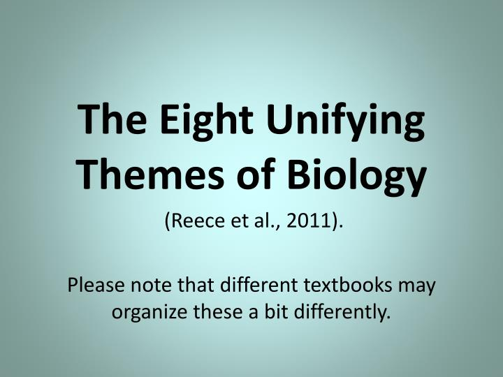 The Eight Unifying Themes of Biology