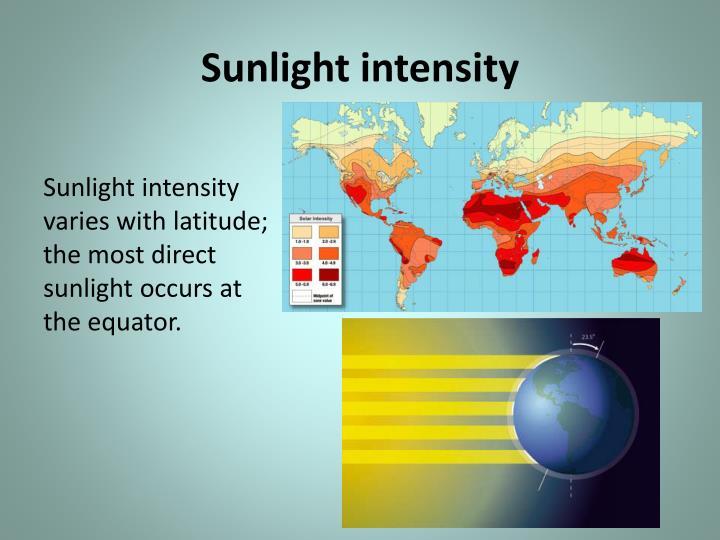 Sunlight intensity