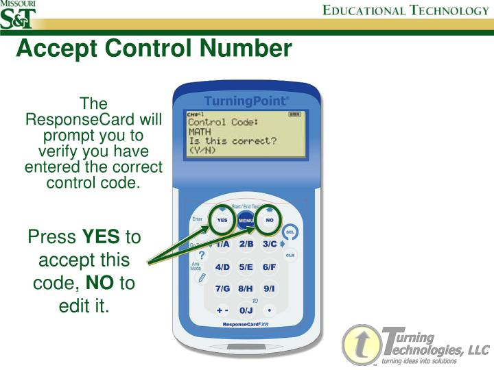 Accept Control Number