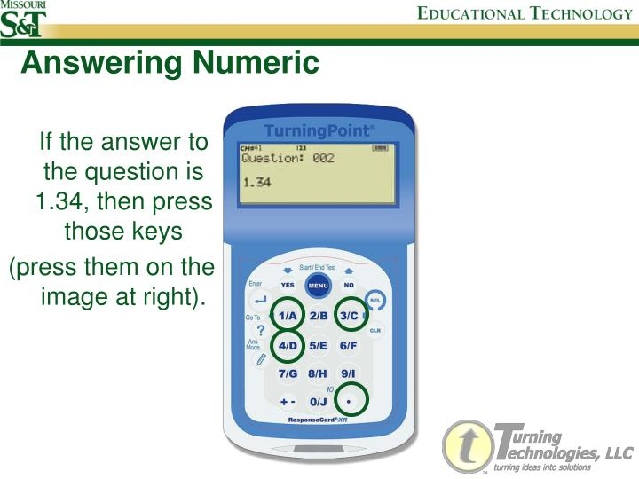 Answering Numeric