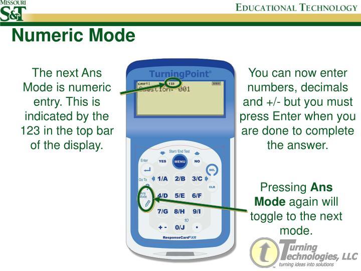 Numeric Mode