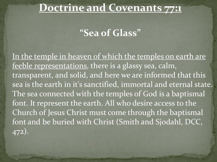 Doctrine and Covenants 77:1