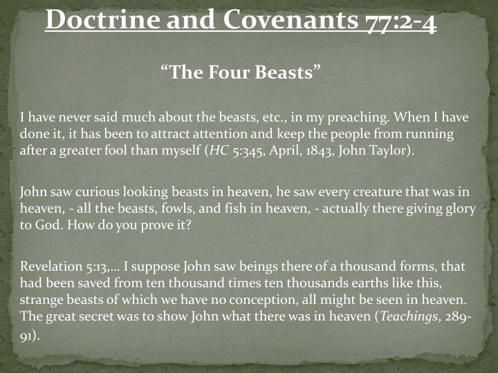 Doctrine and Covenants 77:2-4