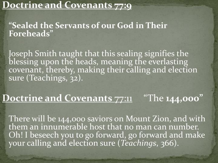 Doctrine and Covenants 77:9