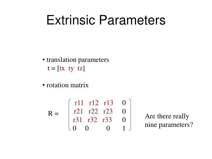 Extrinsic Parameters