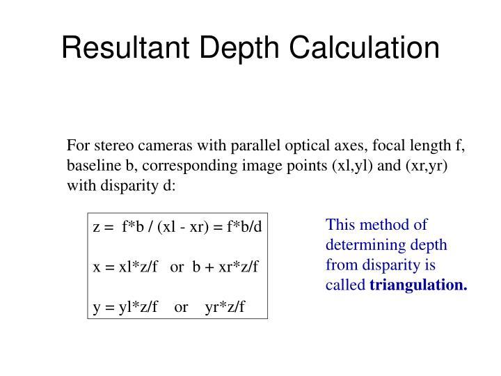Resultant Depth Calculation