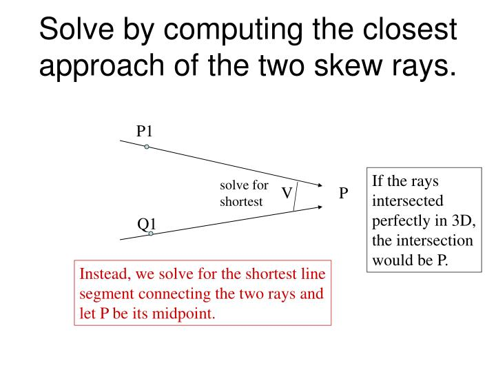 Solve by computing the closest