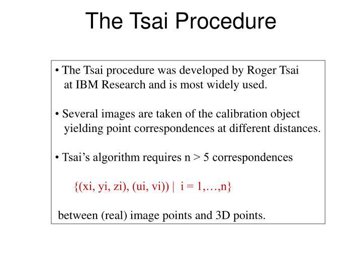 The Tsai Procedure