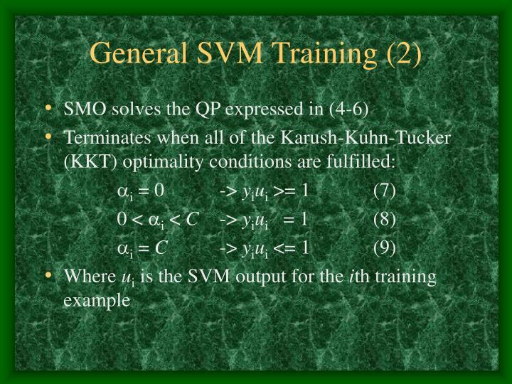 General SVM Training (2)