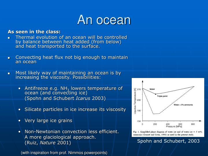 An ocean