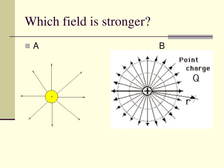 Which field is stronger?