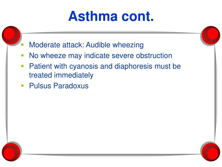 Asthma cont.