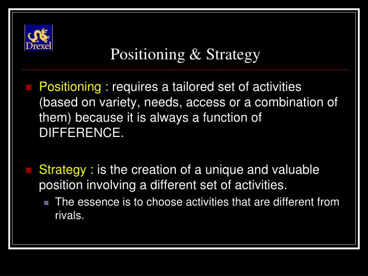 Positioning & Strategy