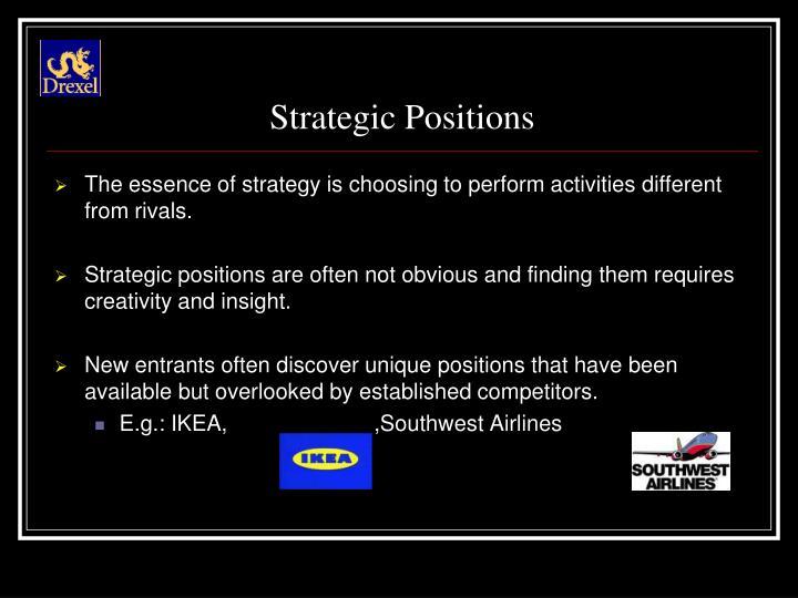 Strategic Positions