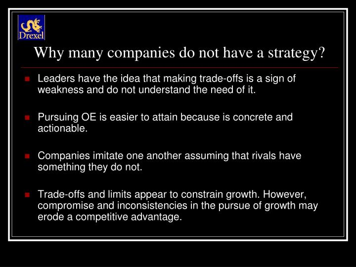 Why many companies do not have a strategy?