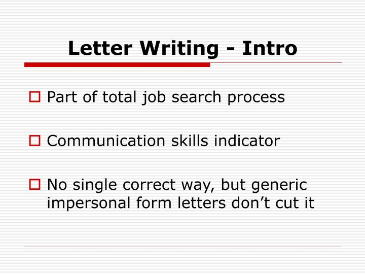 Letter writing intro