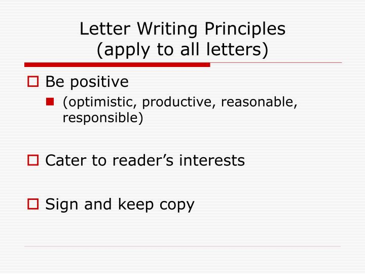 Letter Writing Principles
