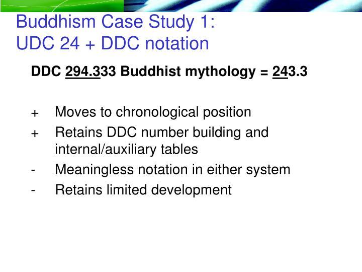 Buddhism Case Study 1: