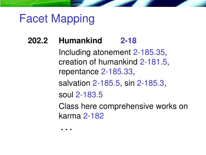Facet Mapping