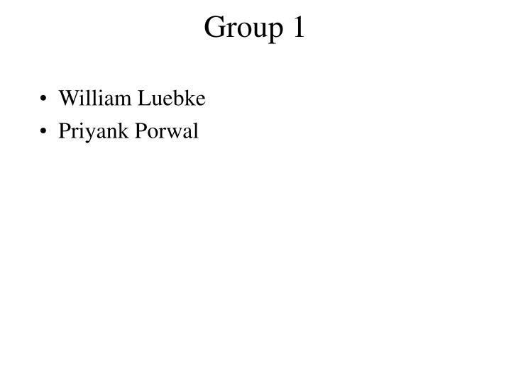 Group 1
