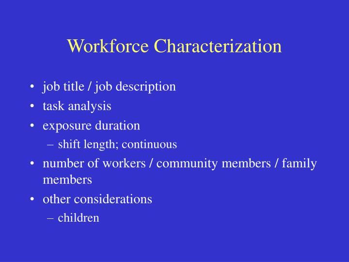 Workforce Characterization