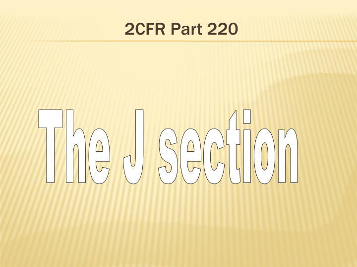 2CFR Part 220