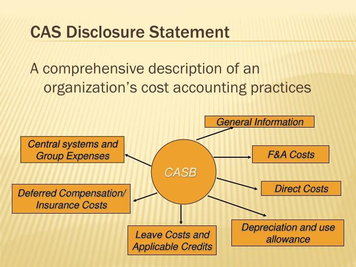 CAS Disclosure Statement