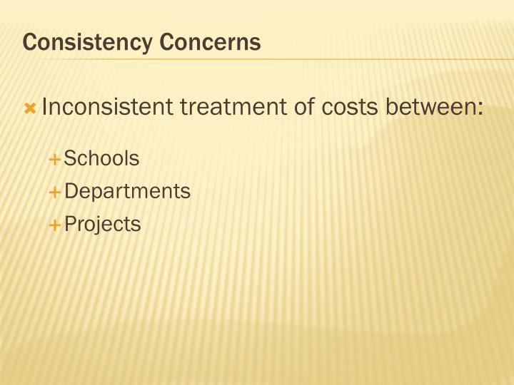 Consistency Concerns