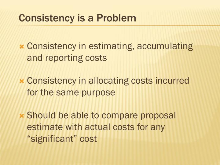 Consistency is a Problem