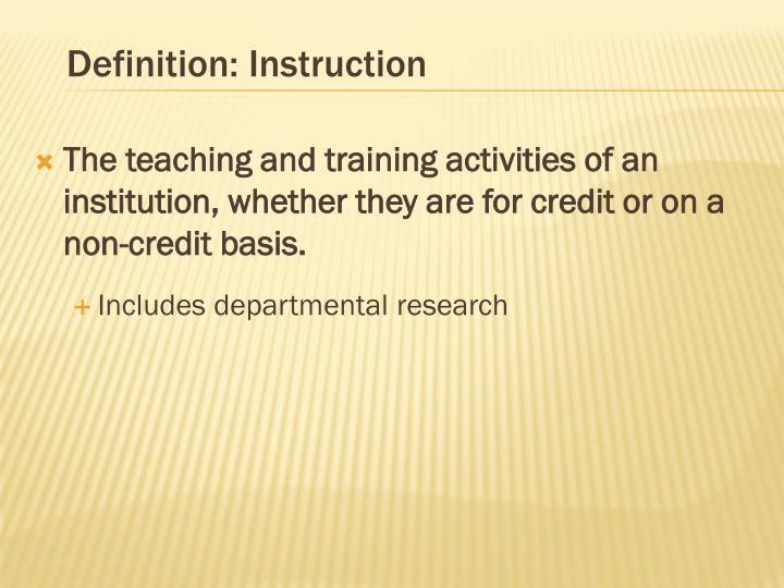 Definition: Instruction