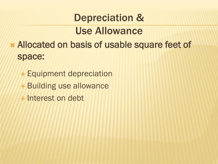 Depreciation &