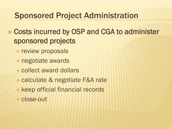 Sponsored Project Administration