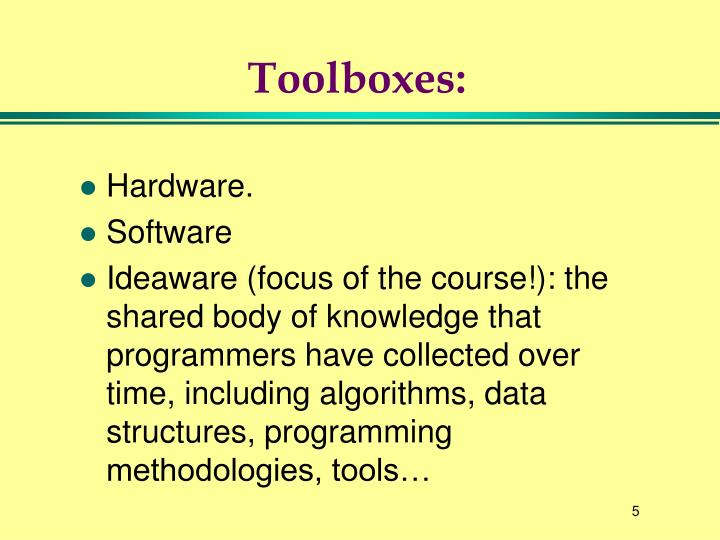 Toolboxes: