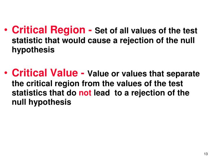 Critical Region -