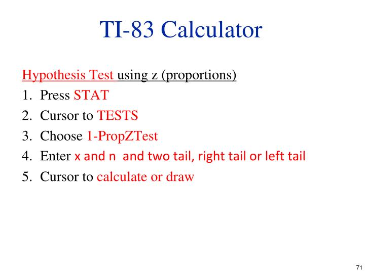 TI-83 Calculator