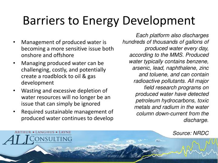 Barriers to Energy Development